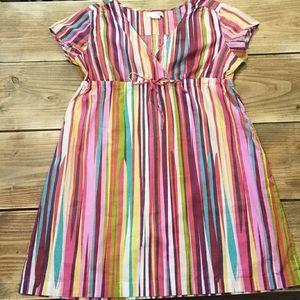 Boden (14L) Rainbow Stripe Dress